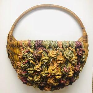 Colorful Wicker Basket 🧺